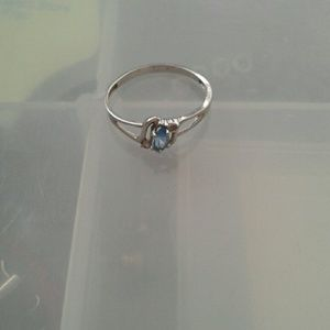Sterling Silver Light Blue Sapphire Ring